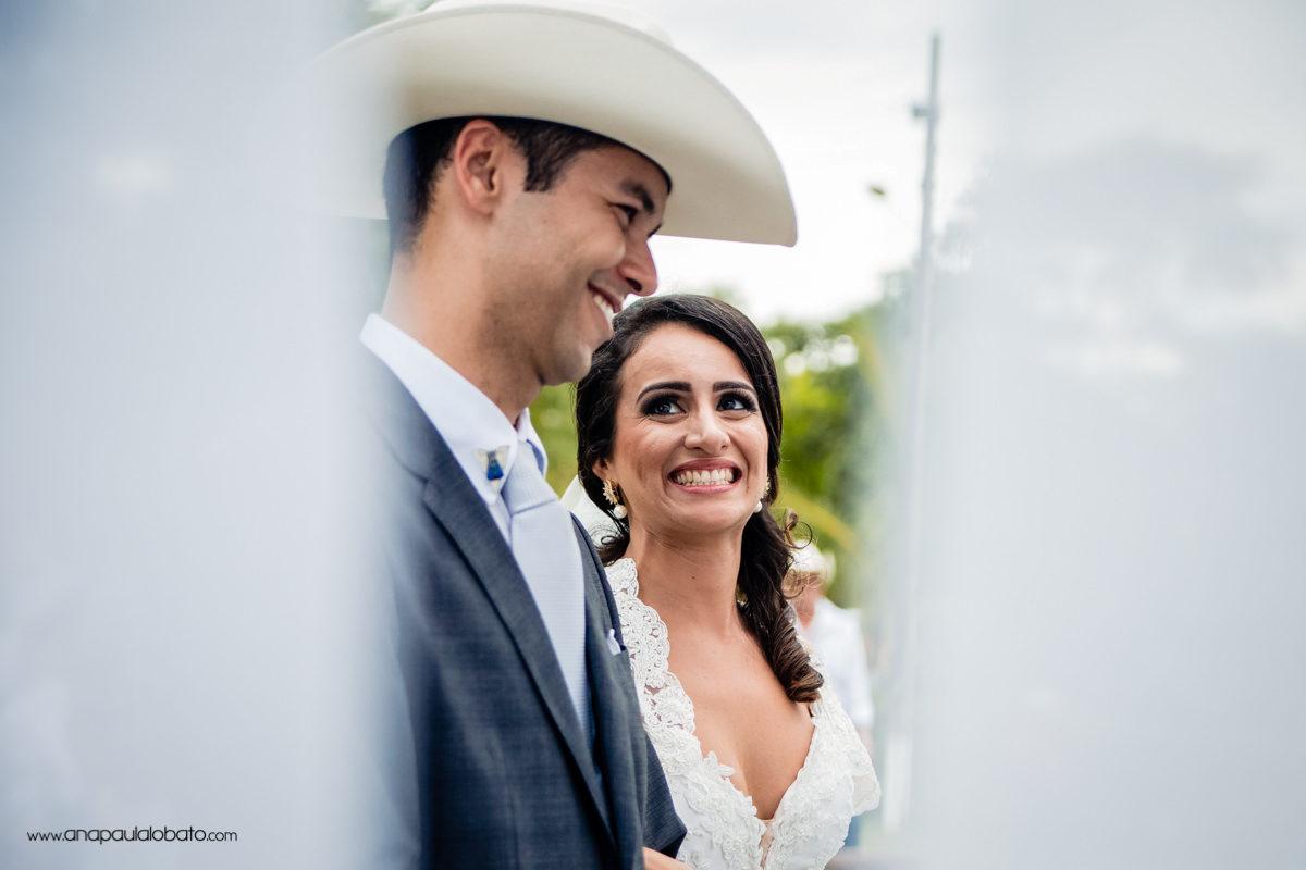 olhar apaixonado noiva
