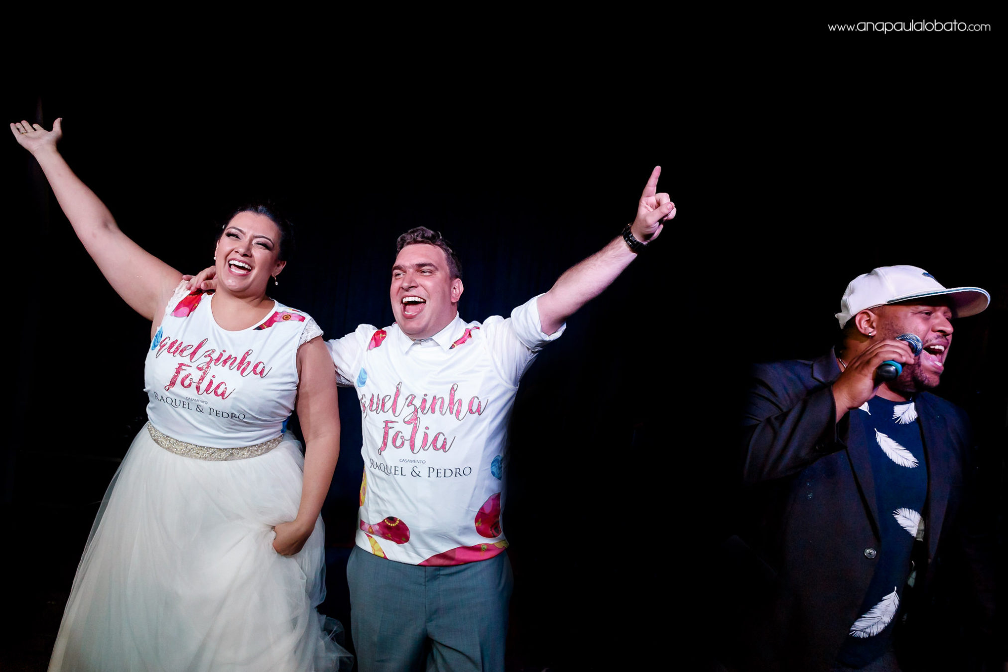 Couple celebrate their wedding with personalized shirts