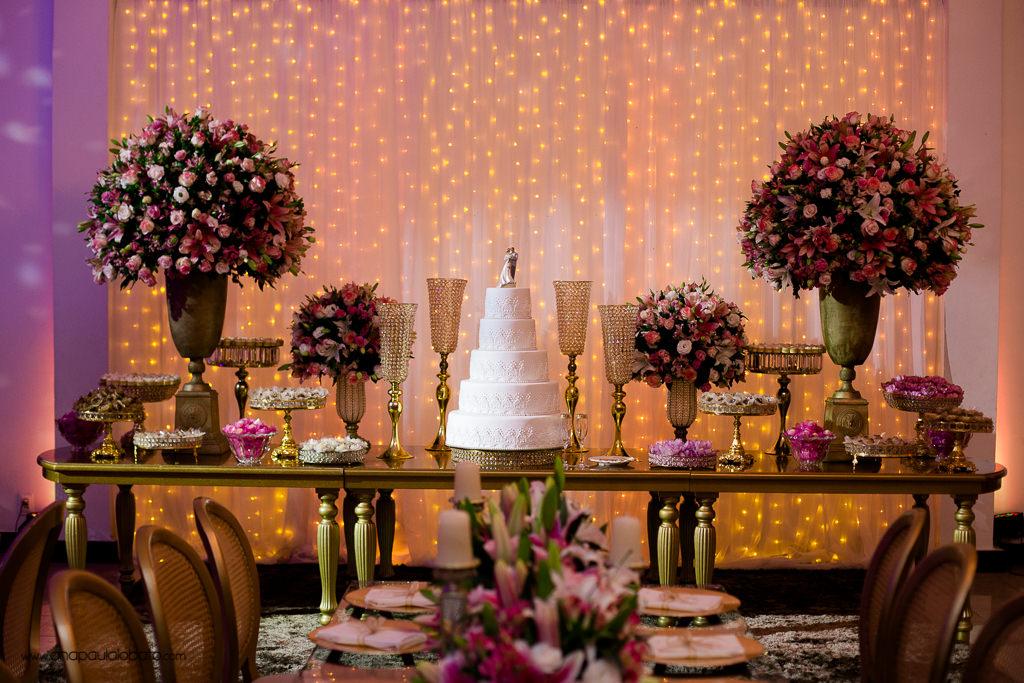 decoração casamento bolo
