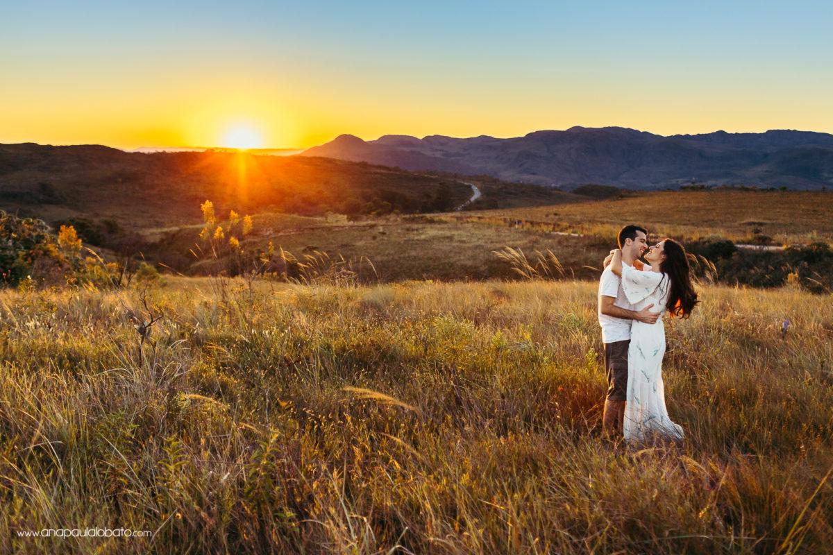 casal no por do sol