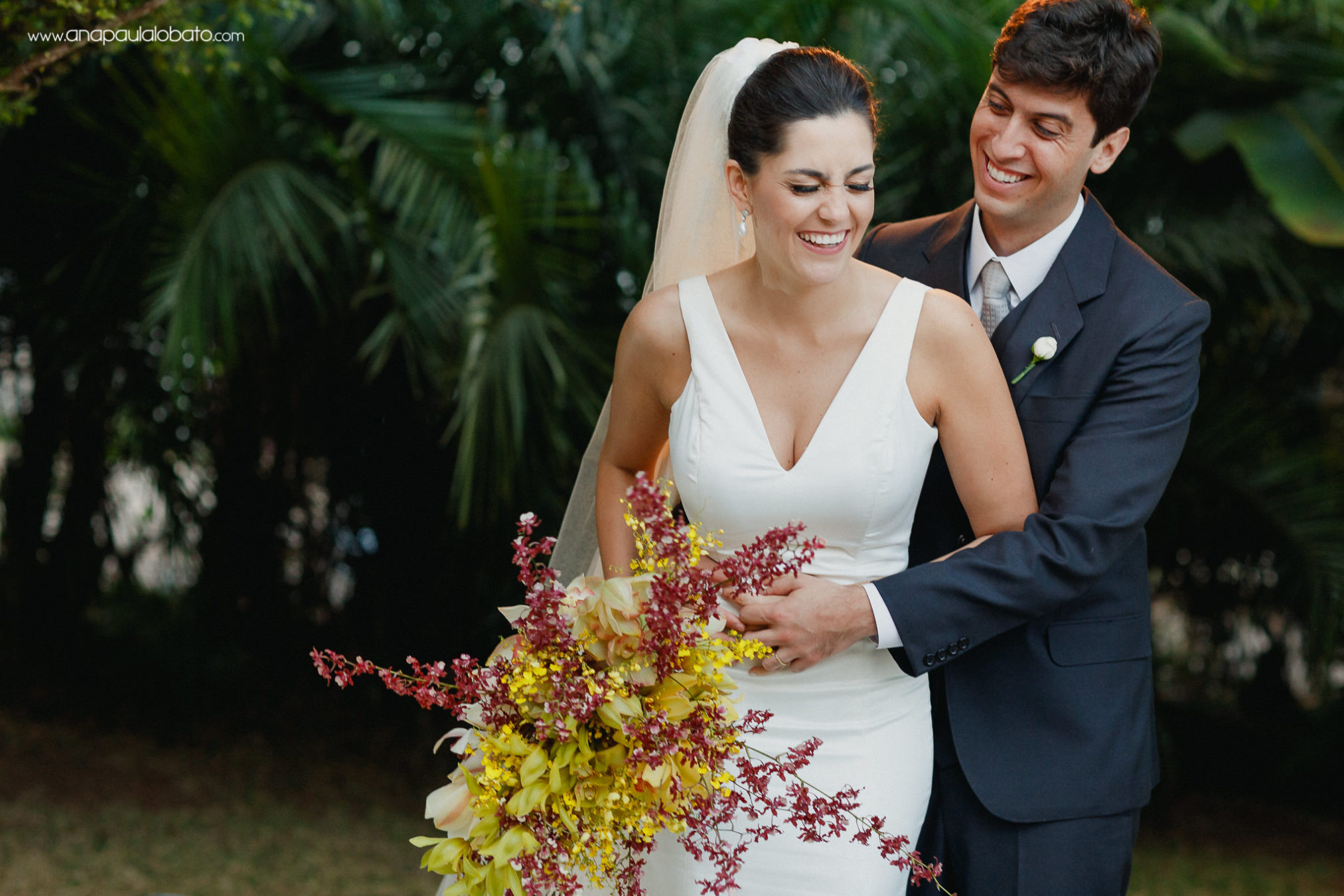 Moments after wedding couple experience happiness