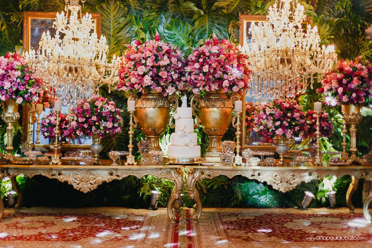klassische Hochzeitsdekoration