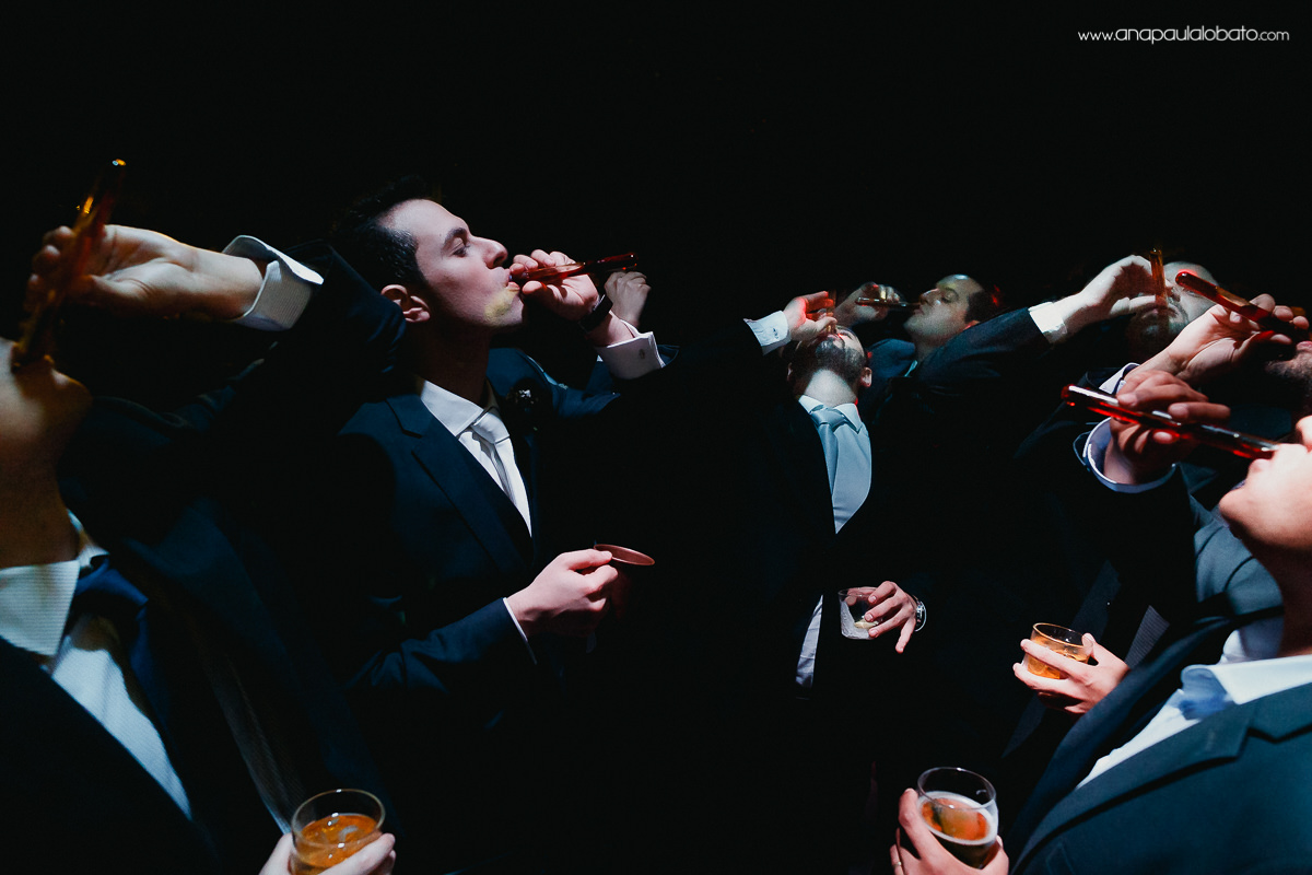Groomsmen cheers in a special and surprising way