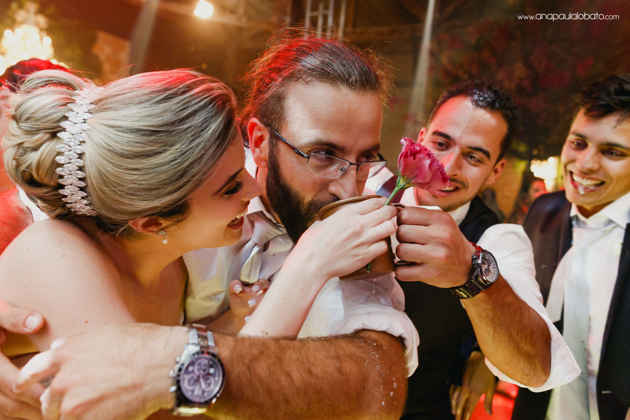 Crazy and funny drinking wedding moment