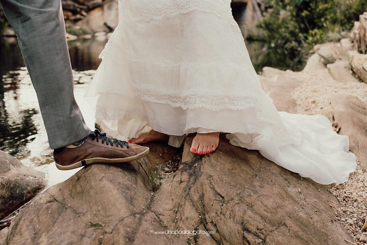 pos wedding com água