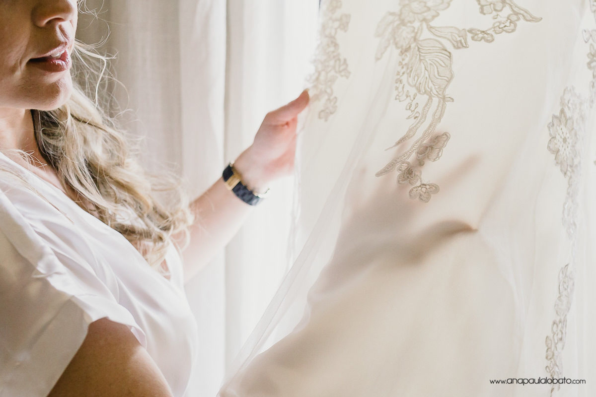 wedding delicate detail of dress