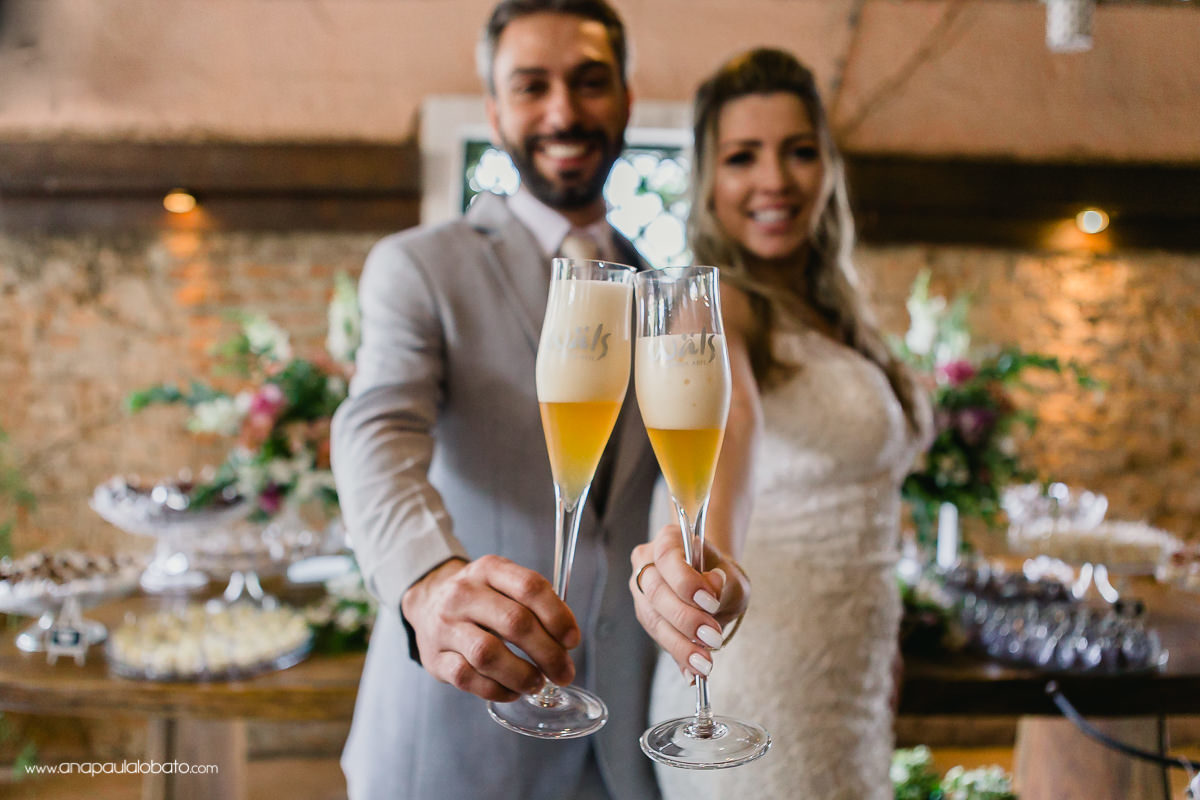 creative wedding toast with beer