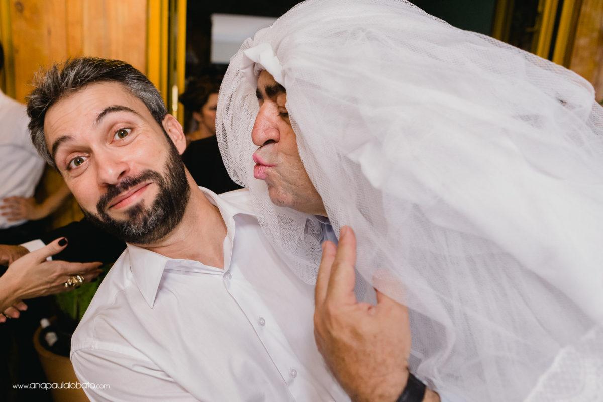 having fun wedding