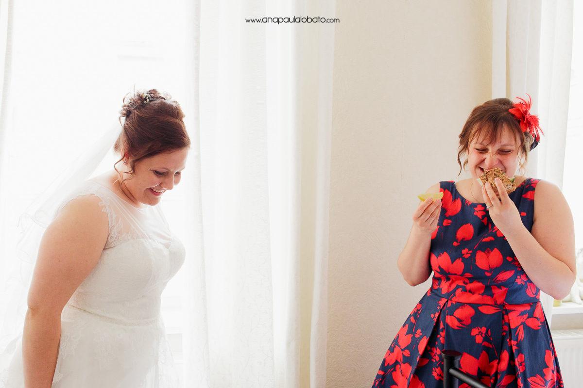 funny getting ready wedding