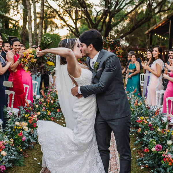 Gorgeous sunset wedding in Brazil