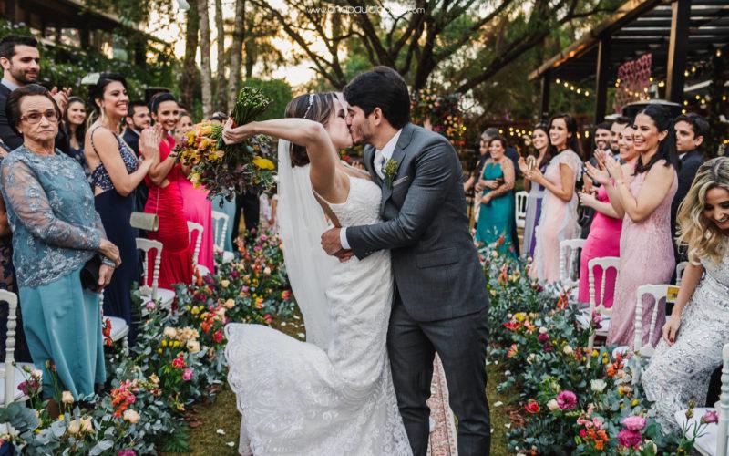 Gorgeous sunset wedding in Brazil