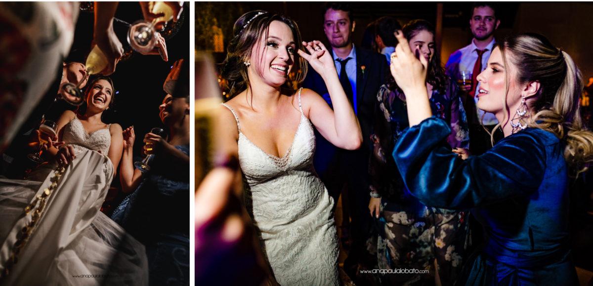 noiva feliz em festa de casamento no mariângela