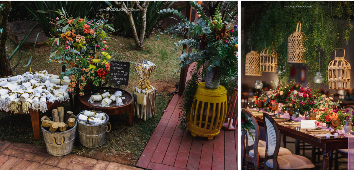 colorful decoration for Gorgeous sunset wedding in Brazil