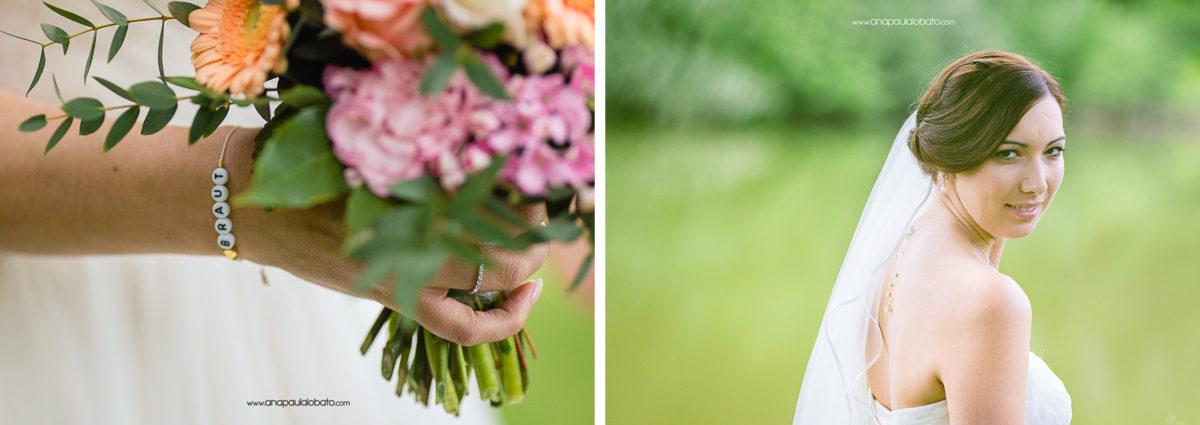 detalhes fofos de casamento
