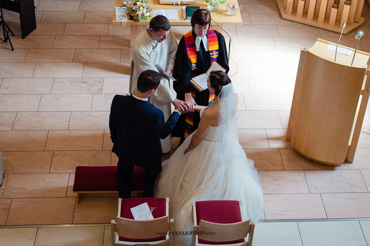 benção no casamento alemão