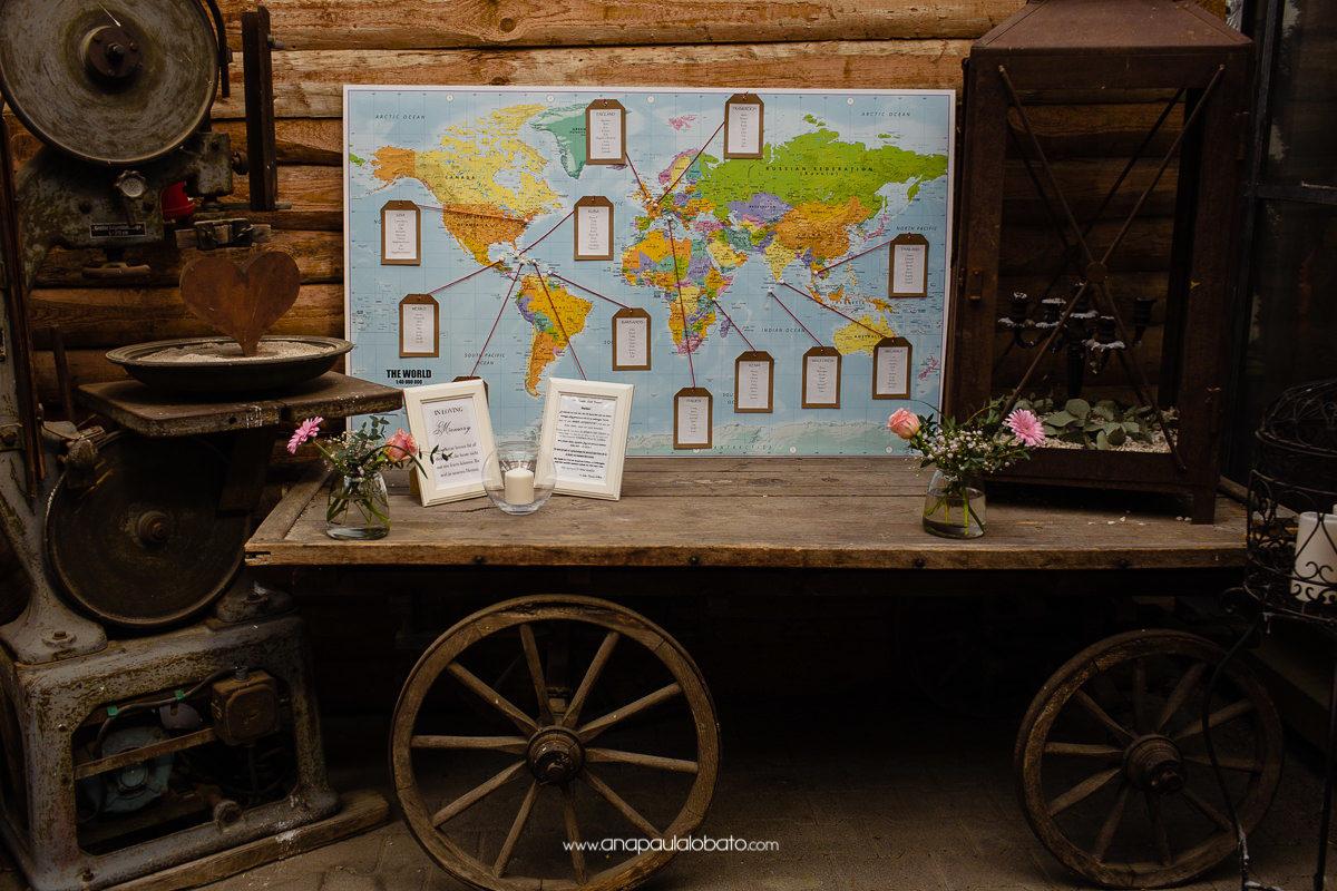 ideia criativa para noivos que gostam de viajar