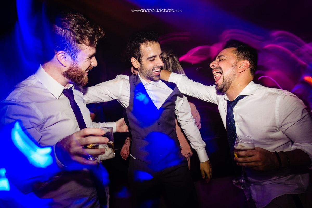 friends having fun wedding