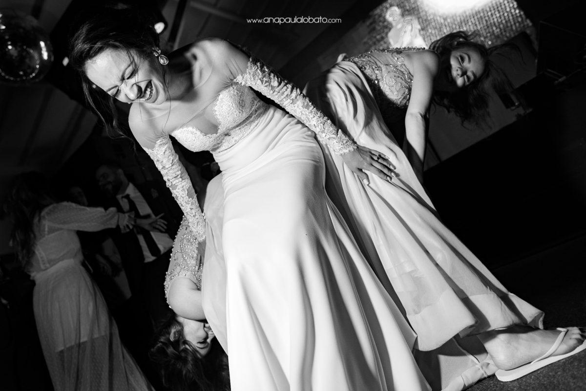 friends dancing in wedding