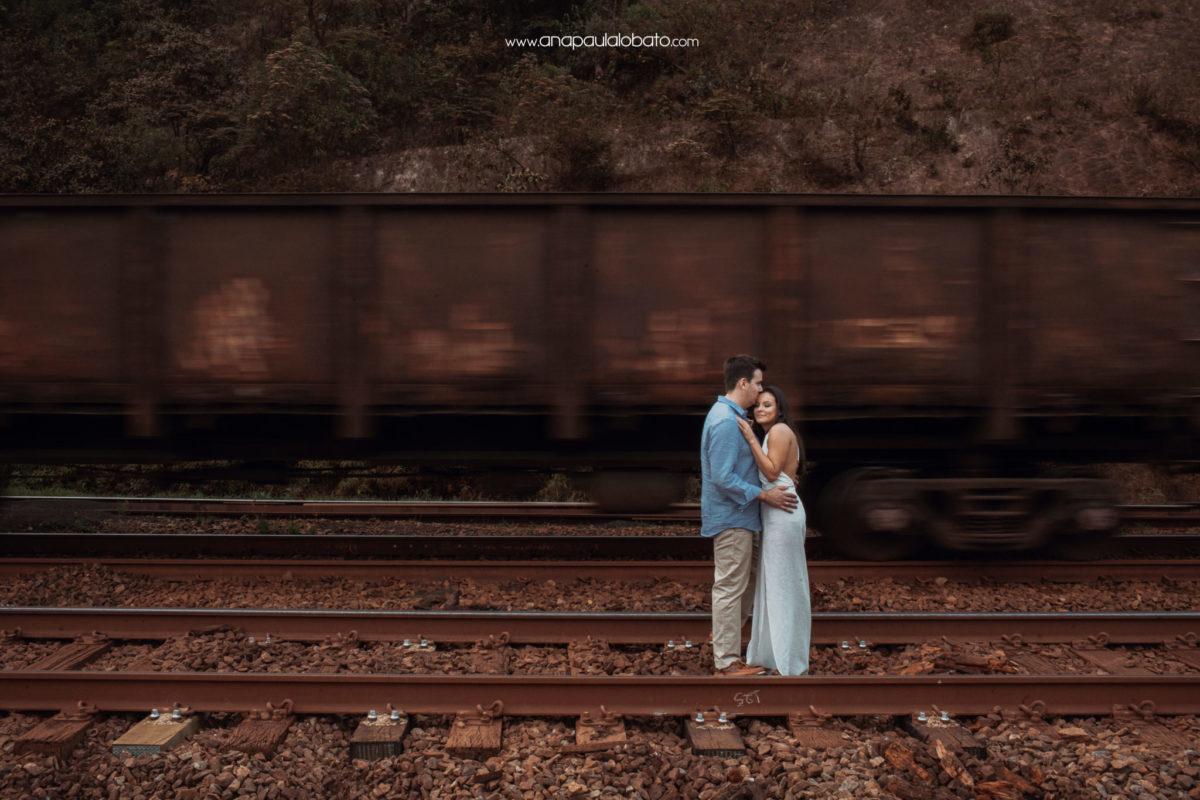 fotos de casamento no trem