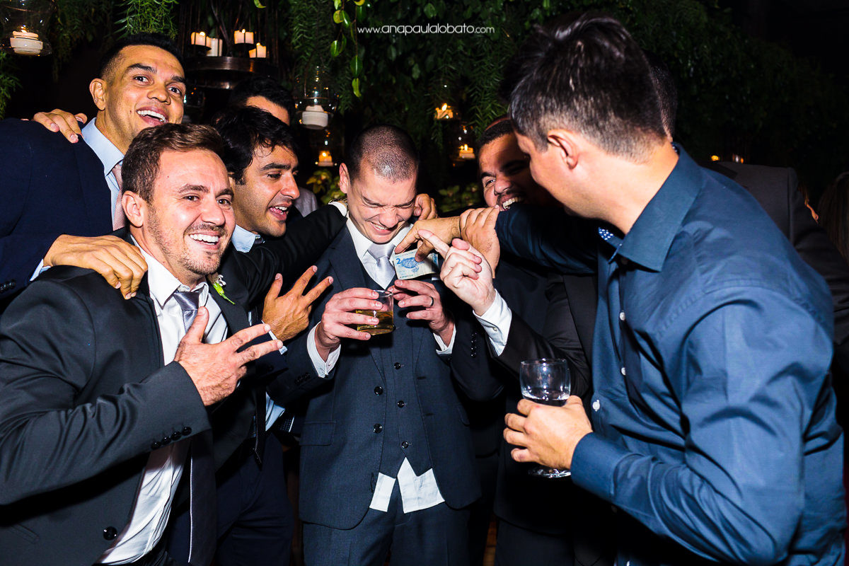 groom being attacked by friends