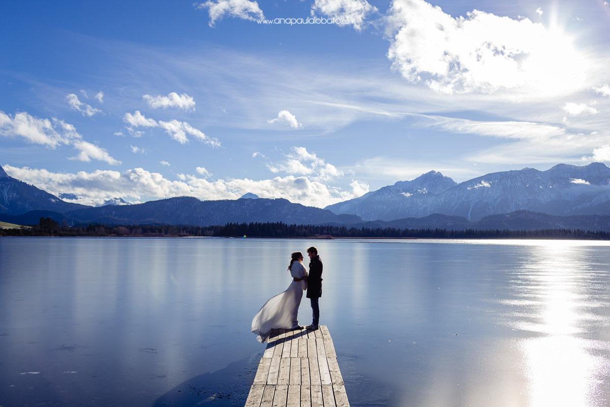 fotos de casamento na neve