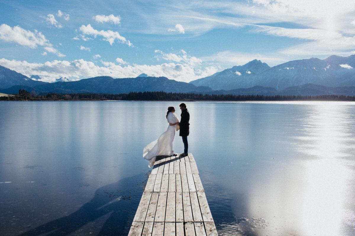 winter wedding in germany
