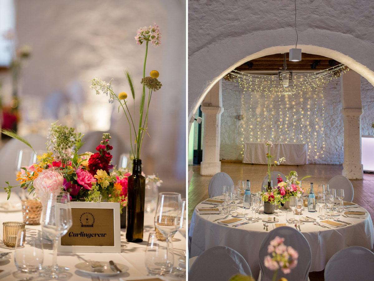 wedding decoration in schloss ehrenfels