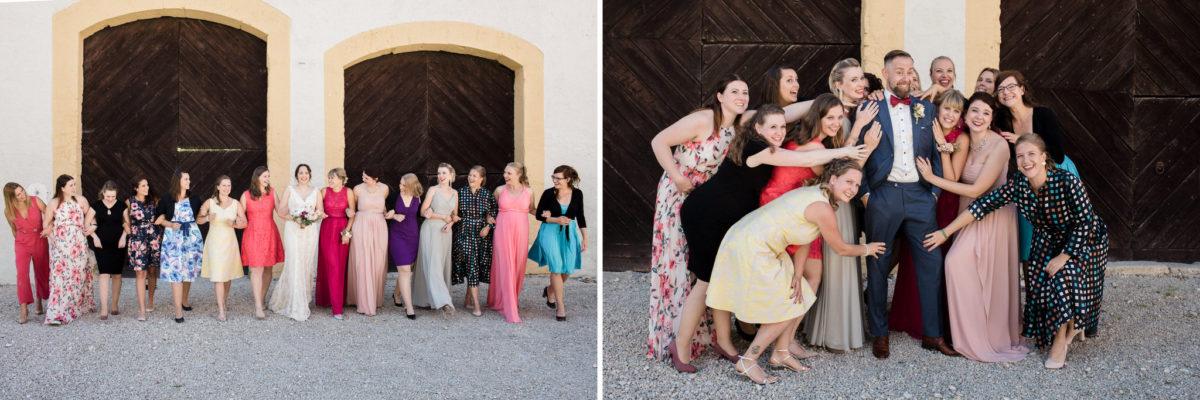 funny wedding in Schloss Ehrenfels