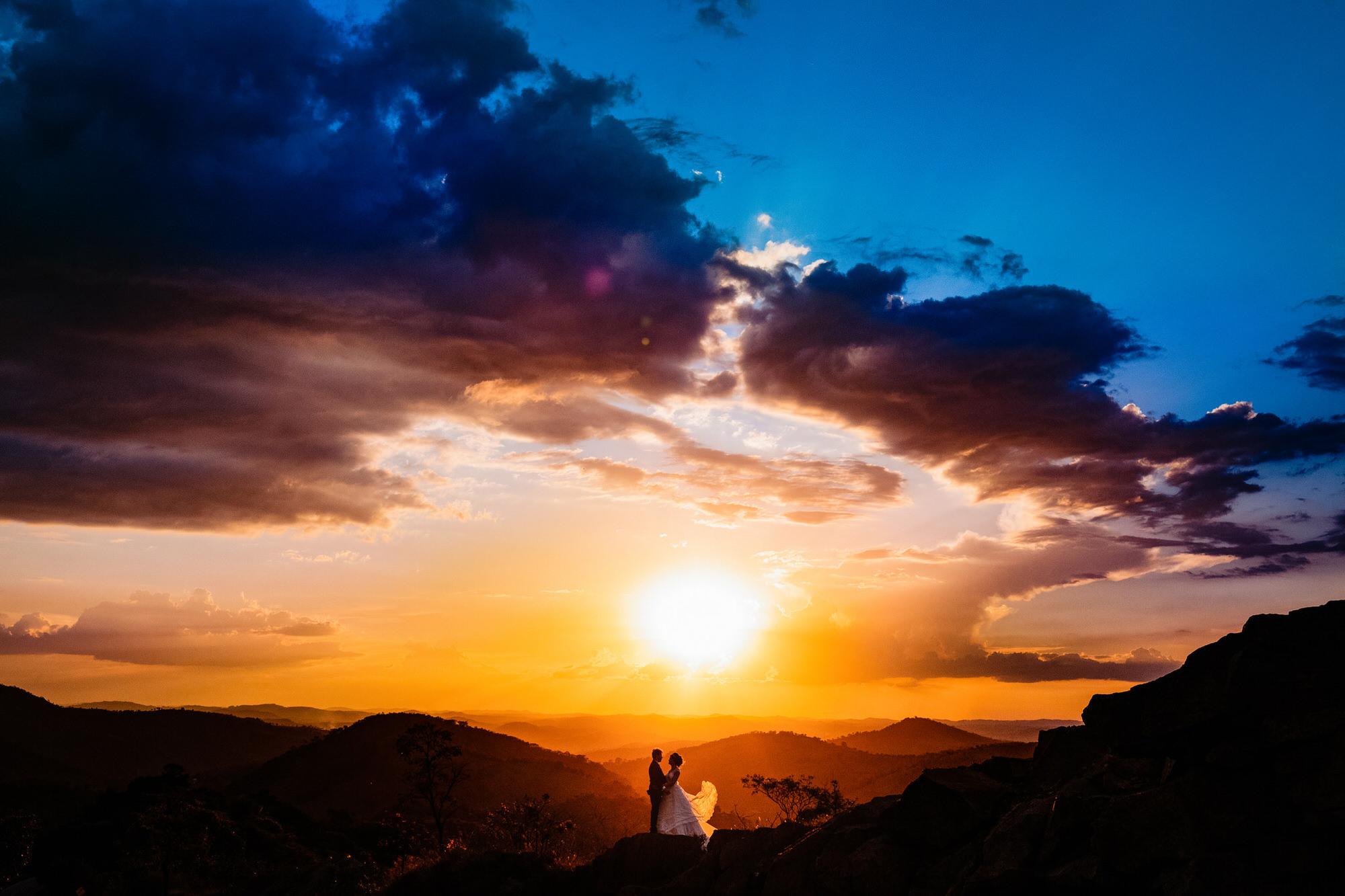 colorful destination wedding