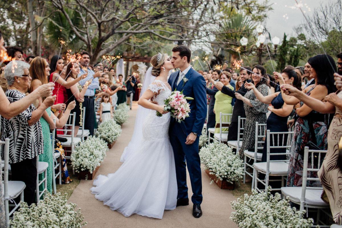 fairy tale wedding kiss