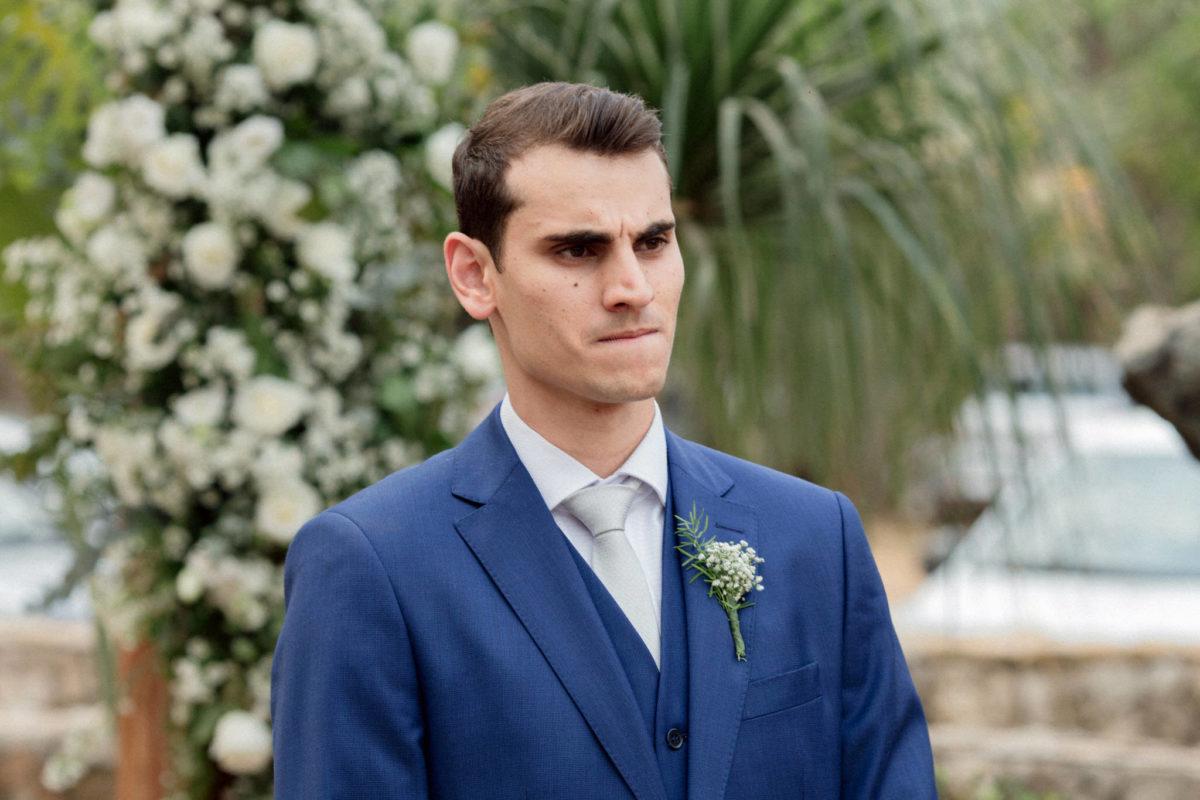 emotional groom face