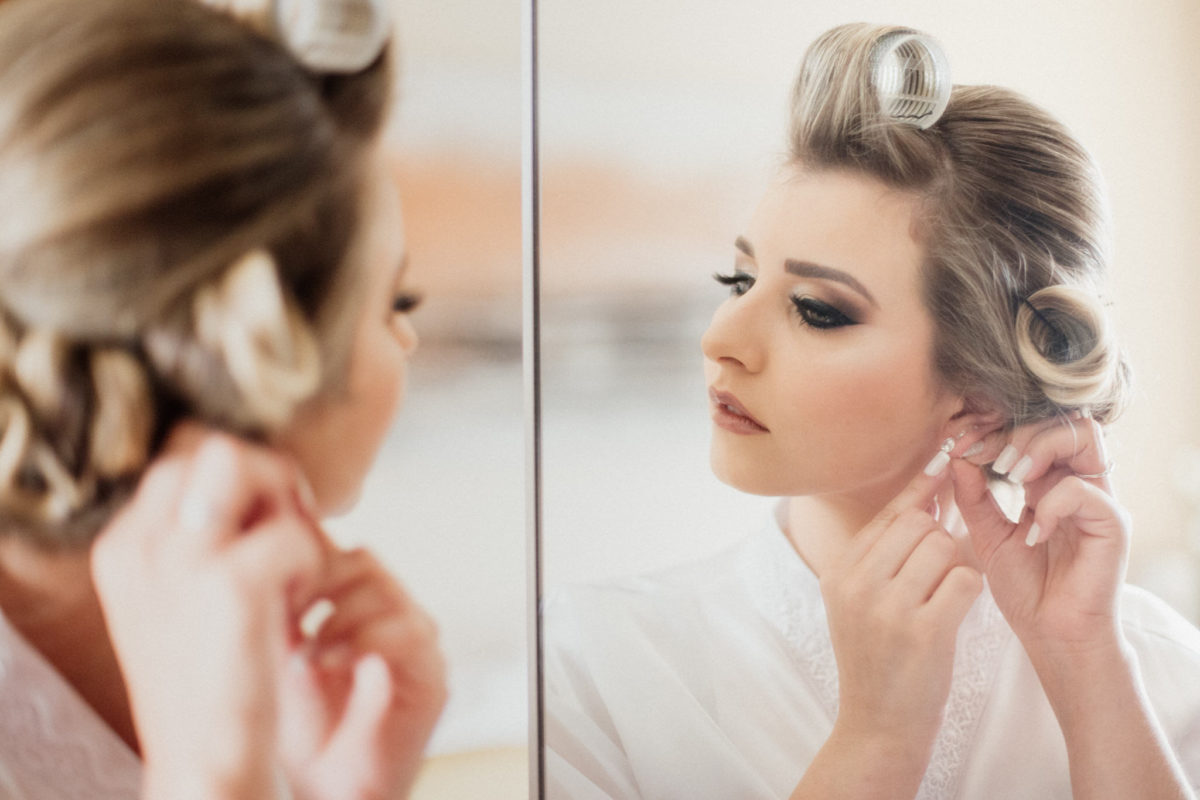 bride getting ready for a fairy tale wedding