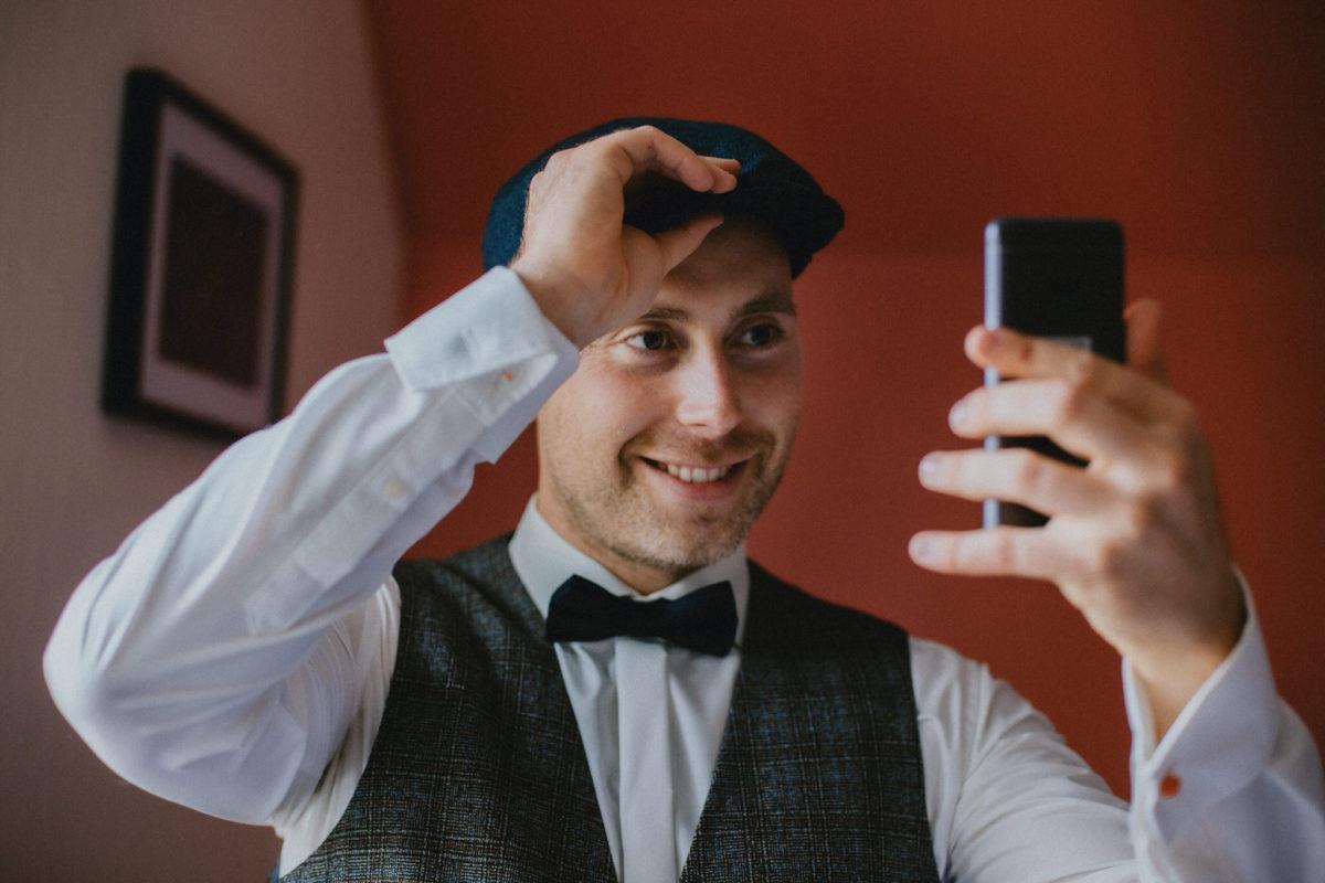 vintage styled groom