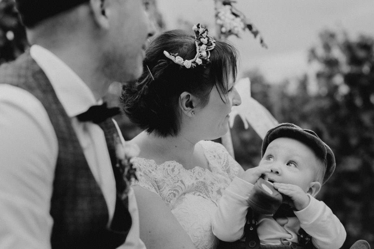 sweet moments at a wedding