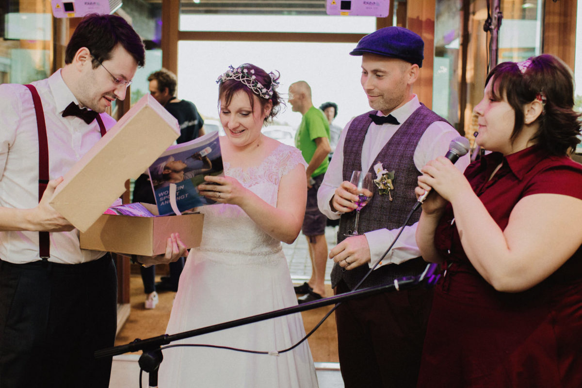 surprise for the bridegroom
